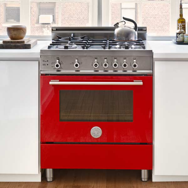 red all gas bertazzoni range, all about pro style kitchen ranges