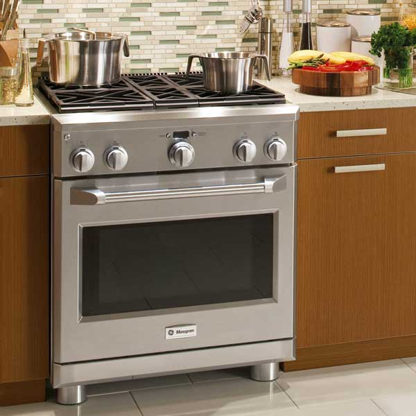 GE monogram 30 in dual fuel range, all about pro style kitchen ranges