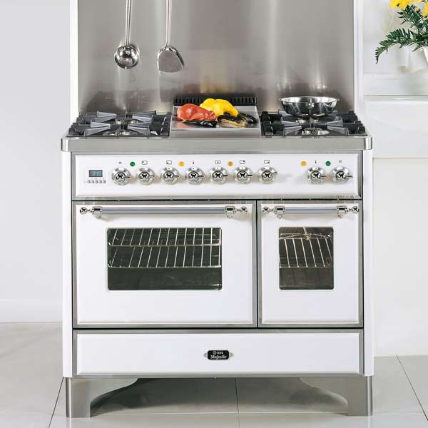 ILVE dual fuel white enamel and stainless steel pro style range, all about pro style kitchen ranges