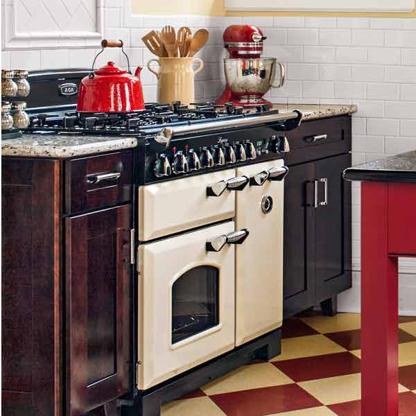 aga range of solid steel with enamel finish and five gas burners, all about pro style kitchen ranges