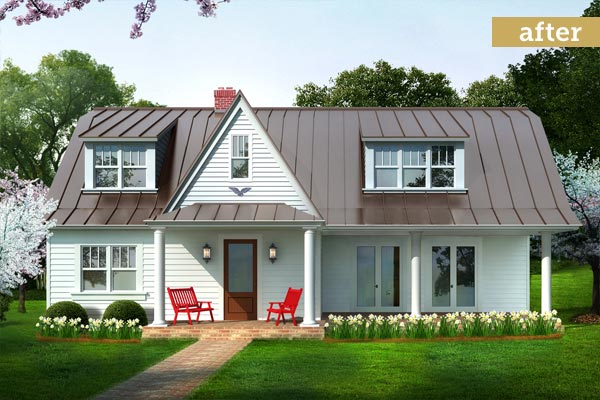 After building character photoshop redo building a for Farmhouse metal roof