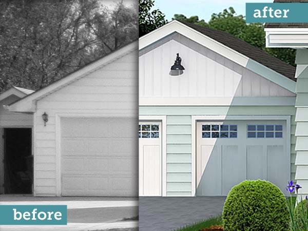 Garage Door Photoshop Redo Cottage Style Makeover