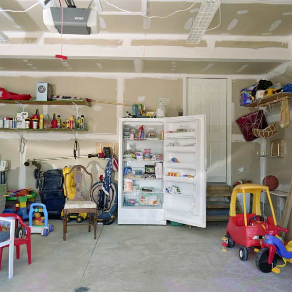 aging old inefficient fridge in garage, new years diy resolutions