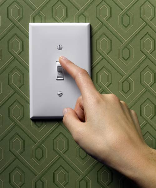 turning off light switch, new years diy resolutions