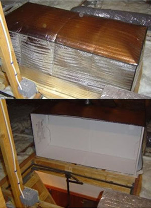 insulated attic door cover, new years diy resolutions