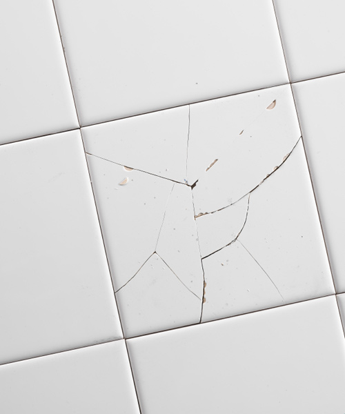 cracked white tile, upgrades for your home before selling