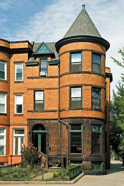 queen anne brick row house, whole house remodels of historic houses