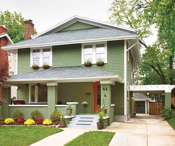 green american foursquare, whole house remodels of historic houses