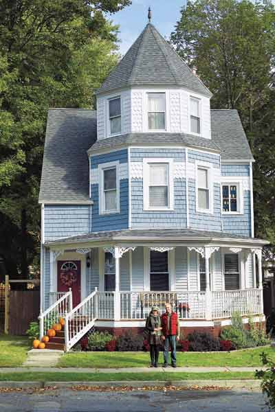 light blue and white queen anne, whole house remodels of historic houses
