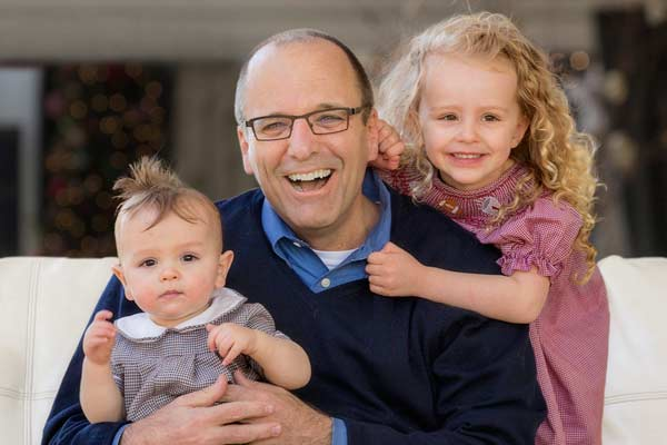 homeowner greg johnson with his godchildren, victorian whole house remodel