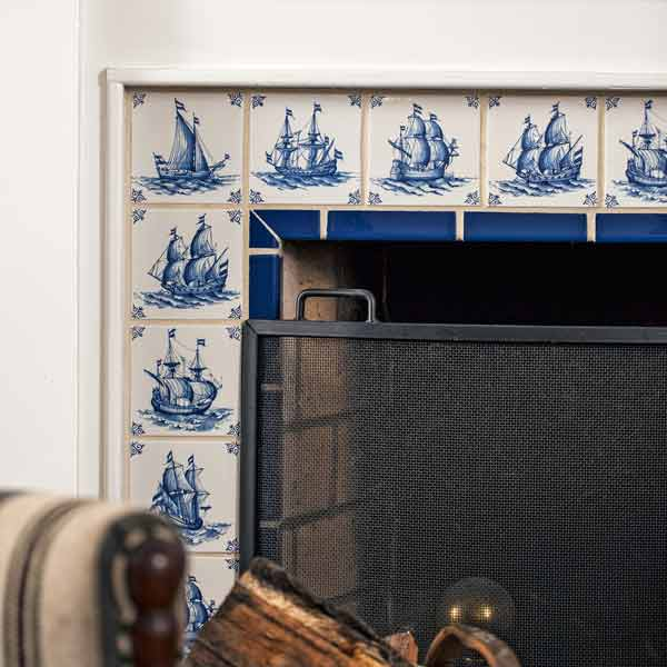 Delft Tile Fireplace Surround A 1900 House With A