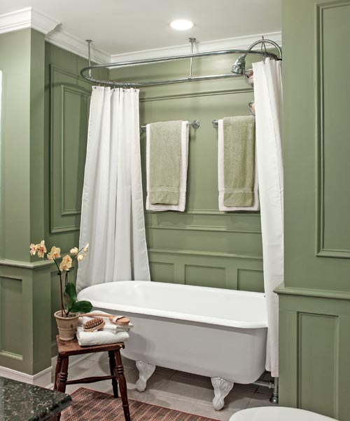 Bumped out master bath a 1900 house with a comeback for Bathroom designs 1900 s