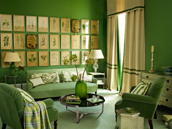 Green Living Room Ideas For Soothing Sophisticated Spaces: Create A Leaf-Green Living Room
