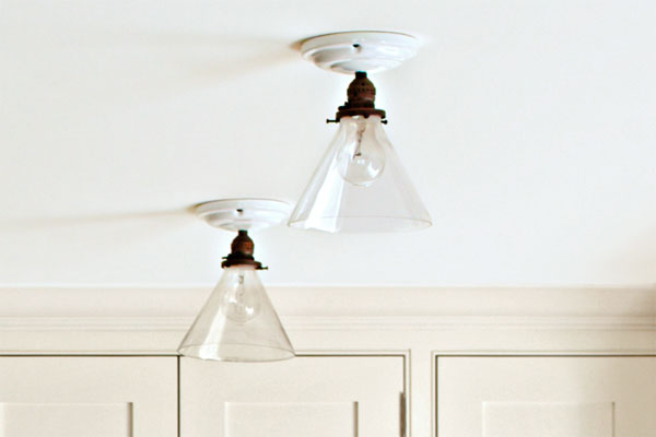 Semi-flush Mounted ceiling lights as an example of a creative kitchen upgrade