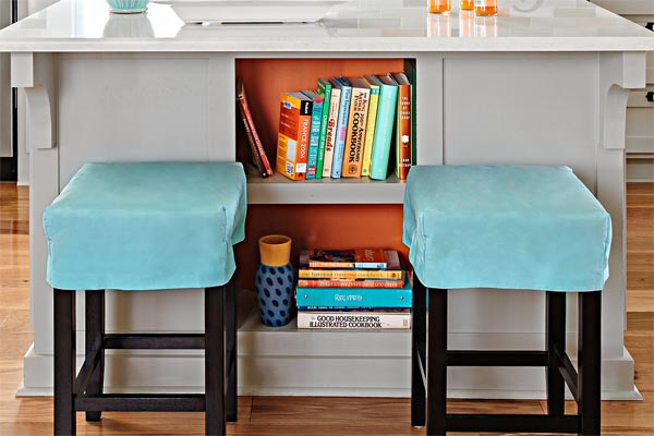 Bright Book Nook as an example of a creative kitchen upgrade