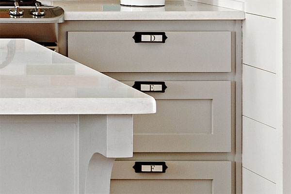 Easier drawer Hardware as an example of a creative kitchen upgrade