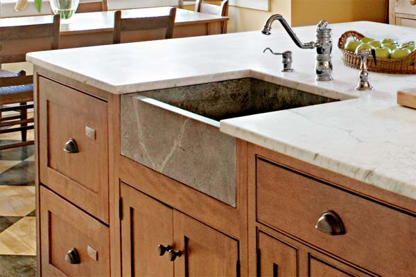 Soapstone Sink as an example of a creative kitchen upgrade