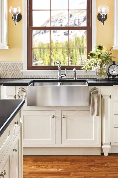 moen stainless steel farmhouse sink, kitchen and bath problem solvers
