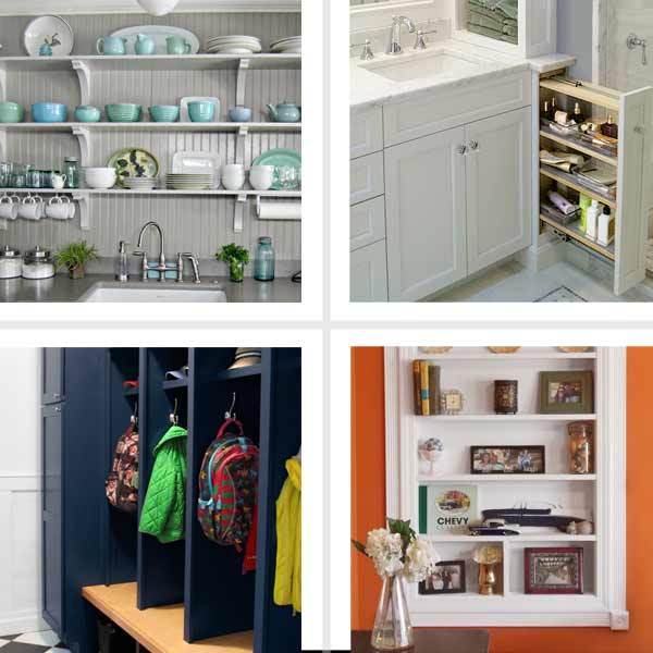 Feats of creative storage standout space saving storage - Small space shelving ideas ...