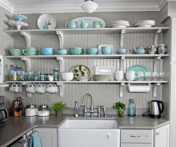Open Shelving In The Kitchen: Decorative And Handy, Too!
