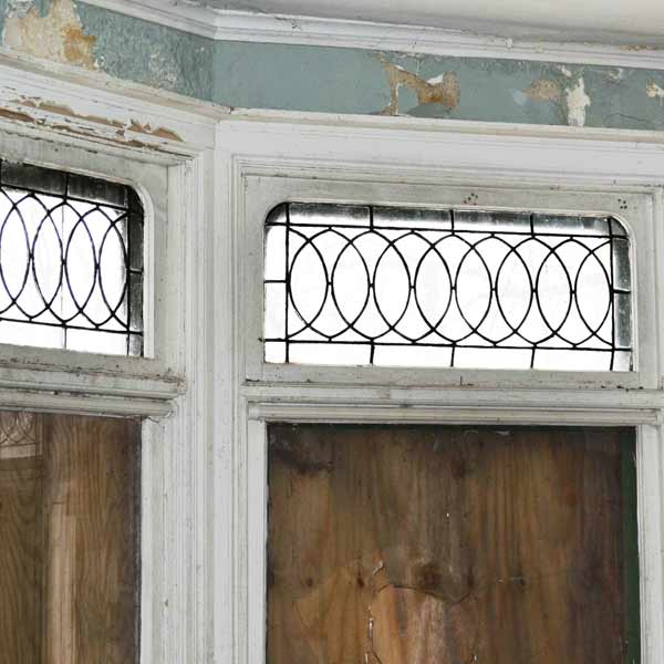 Leaded glass transoms save this old house ohio queen for Queen anne windows
