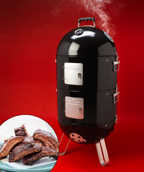 napoleon apollo 3 in 1 AS200K charcoal smoker, shop smarter charcoal smokers