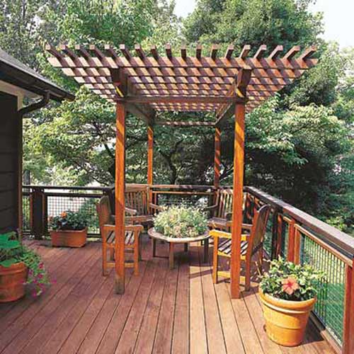 Pergola For A Sunny Spot 16 Ways To Customize Your Deck