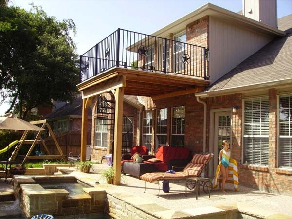 Utilize space below 16 ways to customize your deck for Terrace design 2nd floor