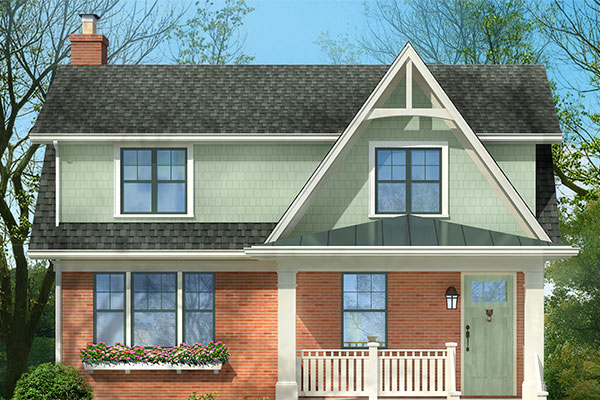 Craftsman inspired gable photoshop redo from flat to for Craftsman gable