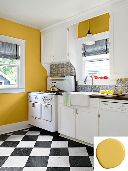 Yellow and White Kitchen | A 1930 Craftsman House