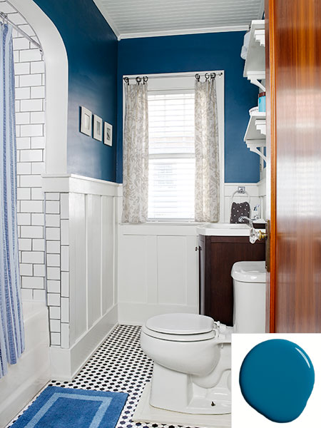 Blue And White Bath A 1930 Craftsman House Transformed