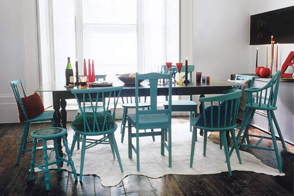 Painting a set of dining chairs quick and easy paint for Dining room upgrades