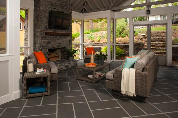 Big block basketweave on concrete 11 ways to update your - How to paint exterior concrete floors ...