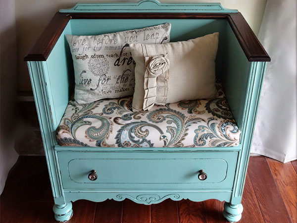 Cushioned Bench 15 Fun Ways To Upcycle An Old Dresser This Old House