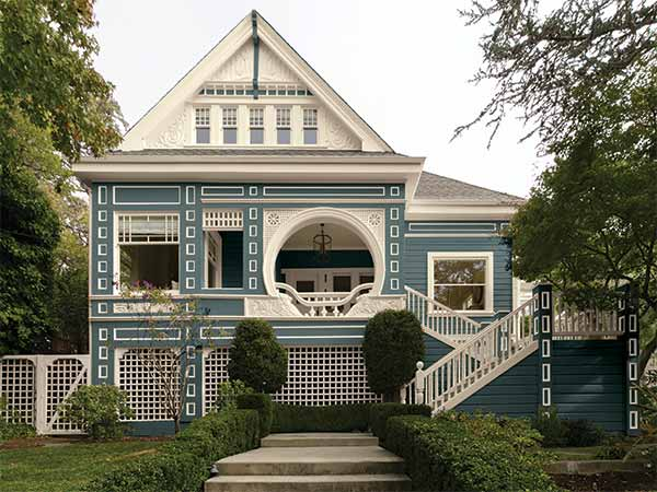 Exterior with kelly moore paints castaway lagoon paint color on the