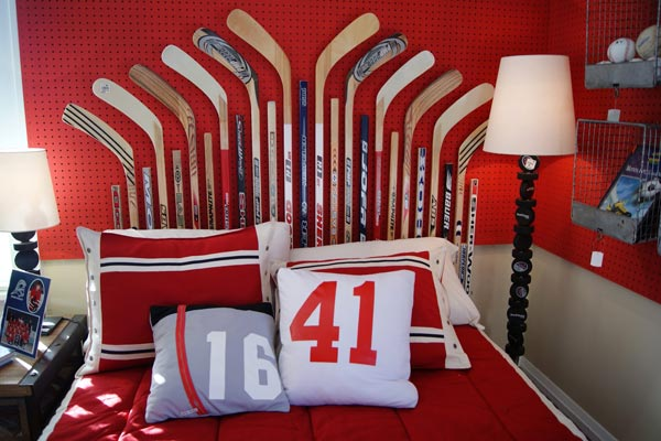 Inspire your future nhler with a hockey inspired room 10 for Kids hockey room