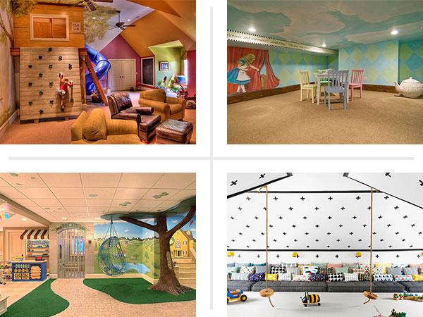 4 kids' playrooms