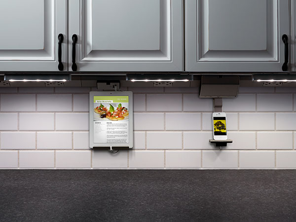 Great Ways For Lighting A Kitchen: Plugged-in Under-Cabinet Lighting