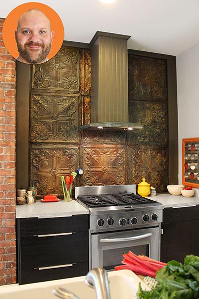 kitchen backsplash put a spin on tin tiles this old house