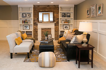 basement redone as a living area