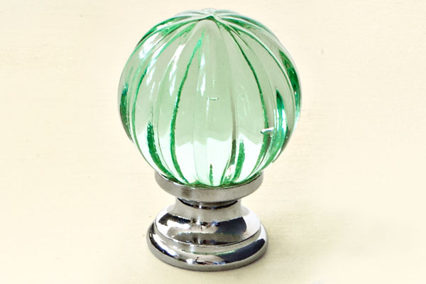 Summer melon 18 jewel like glass cabinet knobs this for Colored glass cabinet knobs