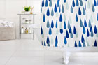 shower curtain with raindrop pattern