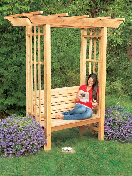 Go Big With An Arbor Bench 12 Ways To Add Outdoor Seating This Old House