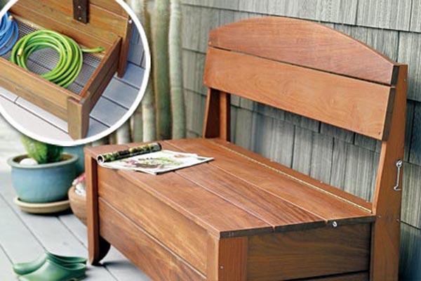 Secret-Compartment Storage Bench