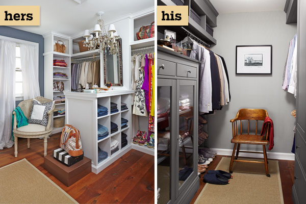 Separate organized closets after walk ins welcome for for His and hers closet