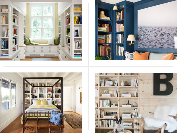4 examples of built-in bookcases