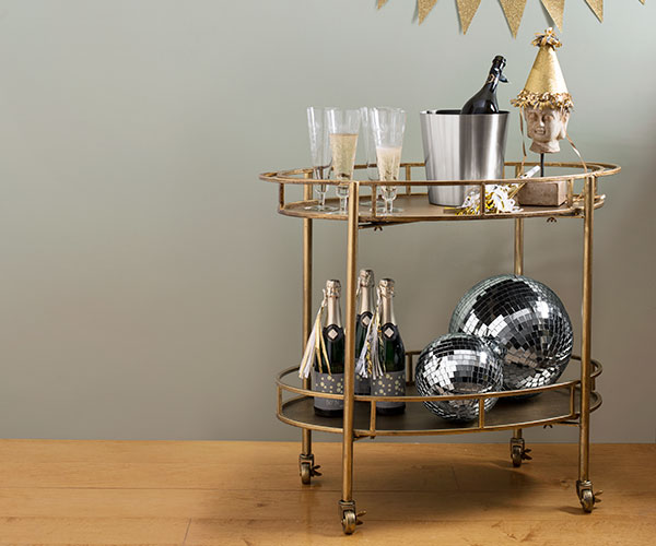 bar cart made by Creative Co-op