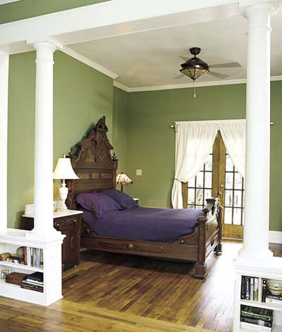 hunter green bedroom