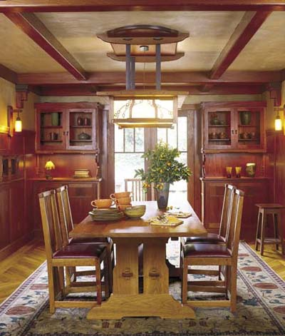 Arts and Crafts colors dining room