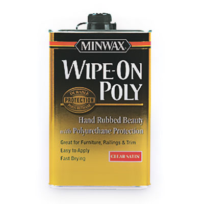 canister of Minwax Wipe-On Poly